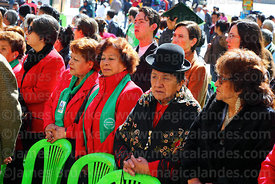 Descendents of the members of the Junta Tuitiva take part in a ceremony to commemorate the uprising of July 16th 1809, La Paz, Bolivia