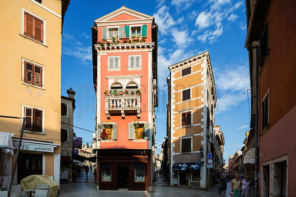 Meeting of Streets in the Istrian Town of Rovinj