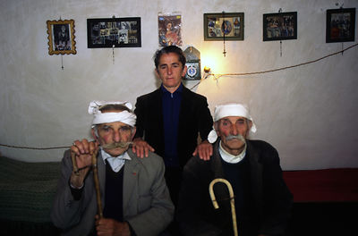 Albania - Thethi - Pashke Sokol Ndocaj and her uncles.