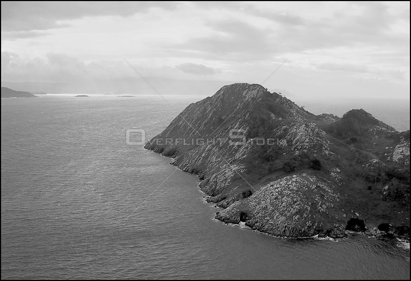 SPAIN Illas Cies -- 15/12/2002 -- Aerial view of one of the Cies Islands in the Atlantic Islands National Park off the Galici...
