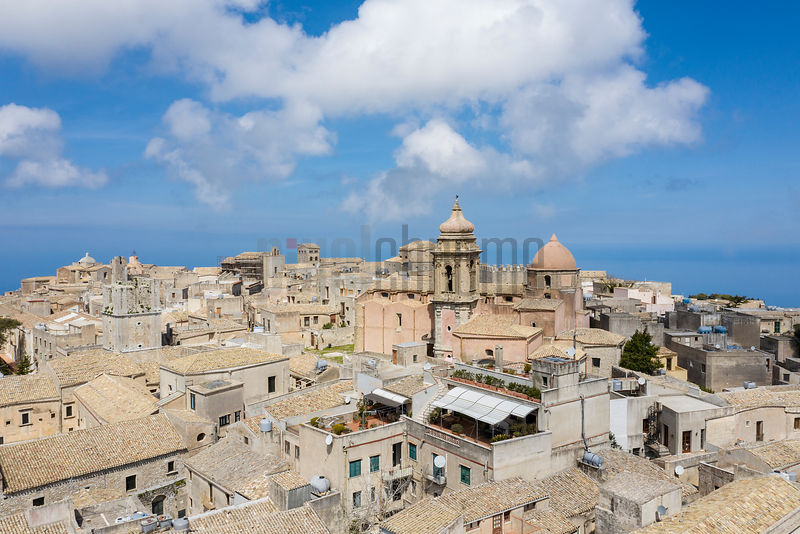 Elevated View of the Hill Town of Erice