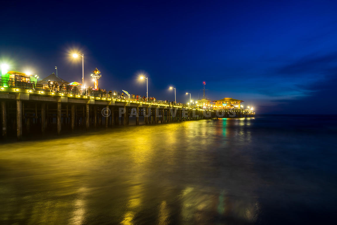 Santa Monica CA Pier at Night