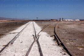Former nitrates railway at Pintados, Region I, Chile