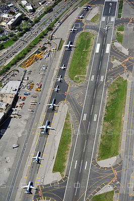 Congestion at LaGuardia Airport New York