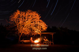 Campfire and Star Trails, Henry Coe State Park, Morgan Hill, CA, USA