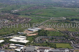 Rochdale aerial photograph of the Crown Business Park with the A627 ( M ) looking towards junction 20 M62 motorway