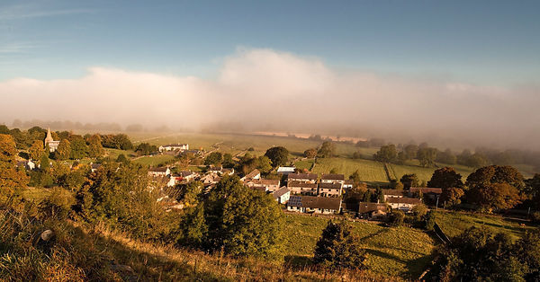 Autumn mist over Taddington