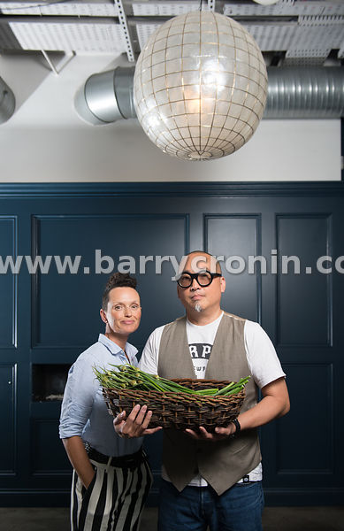 14th June, 2016.Reuven Diaz and Jeni Glasgow photographed in their restaurant Eastern Seaboard, Drogheda, County Louth.Photo:...