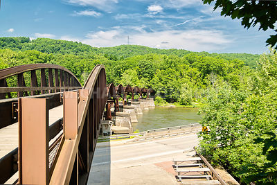 Great Allegheny Passage Rails To Trails Bridge- Ohiopyle, PA