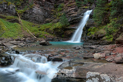 South Mineral Creek Falls near Silverton