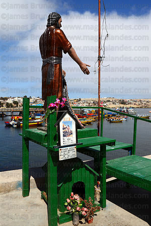 Memorial in port to missing fisherman , Caldera , Region III , Chile