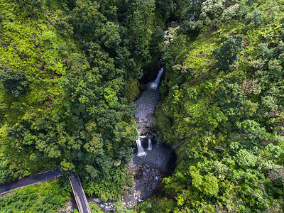 Wailua Nui Stream Watefalls along the Road to Hana Maui Hawaii