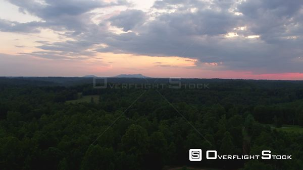 Drone Video Country Sunset Mayodan North Carolina
