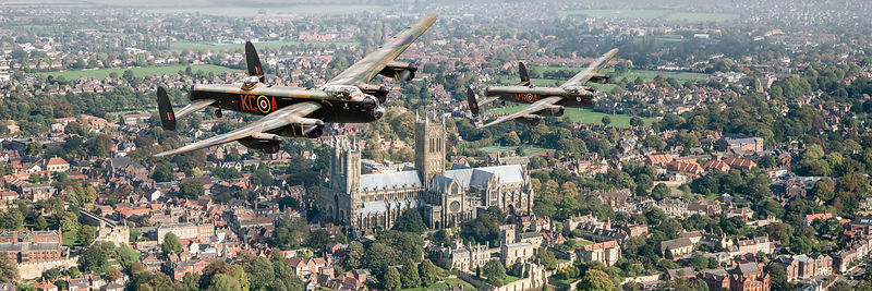 Two Lancasters over Lincoln