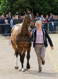 Izzy Taylor and KBIS BRIARLANDS MATILDA - First Horse Inspection, Mitsubishi Motors Badminton Horse Trials 2014