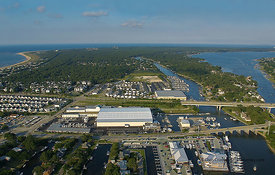 Aerial view of Lynnhaven Marine
