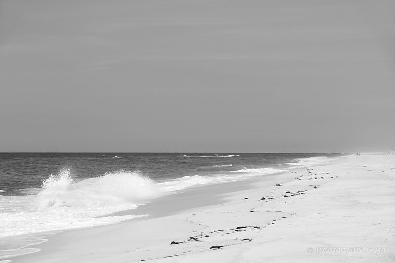 SOUTHAMPTON LONG ISLAND BEACH BLACK AND WHITE