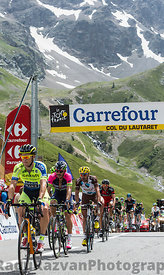 Group of Cyclists on Col du Lautaret