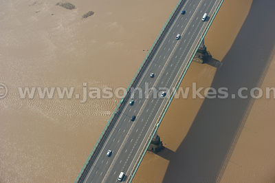 Aerial view of the Second Severn Crossing