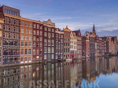 Houses alongside canal, Amsterdam