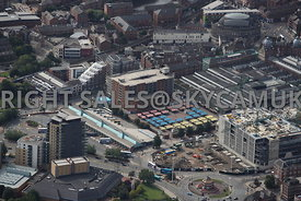 Leeds aerial photograph of the area of the Outdoor Market and Coach Station Dyer Street