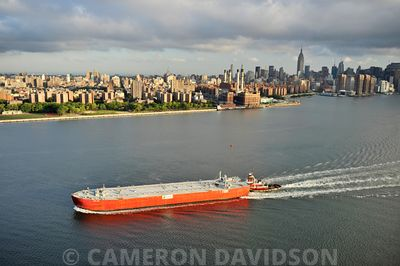 Aerial USA New York East River