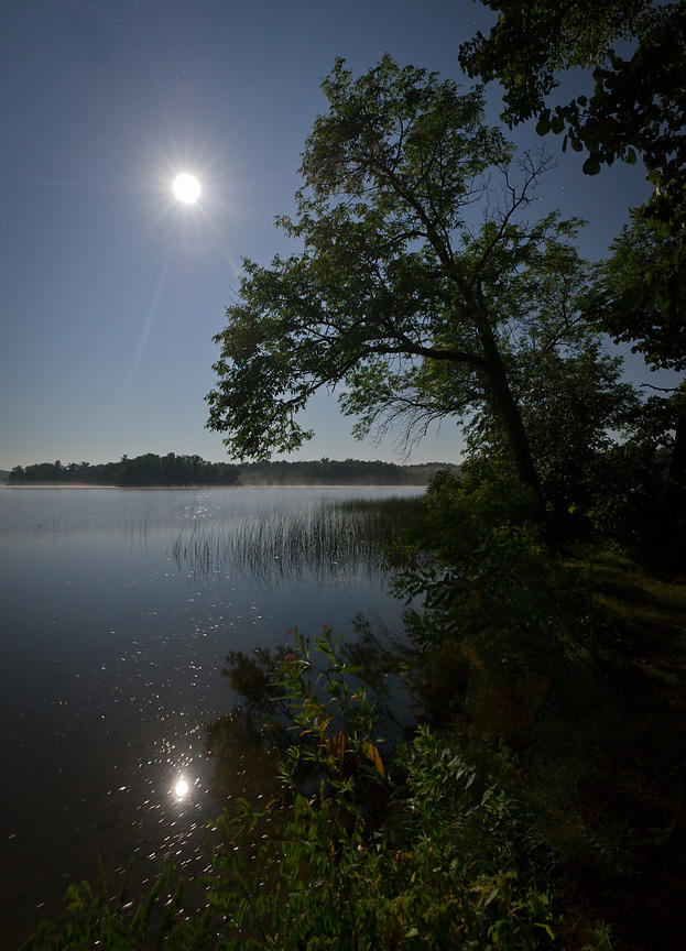 Lake by moonlight
