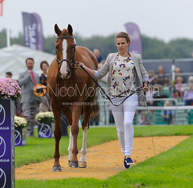 Polly Jackson and PAPILLON - The first vets inspection (trot up),  Land Rover Burghley Horse Trials, 3rd September 2014.