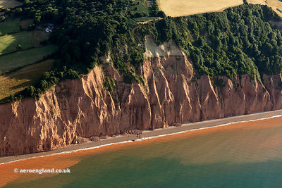 Jurassic Coast World Heritage Site aerial photograph