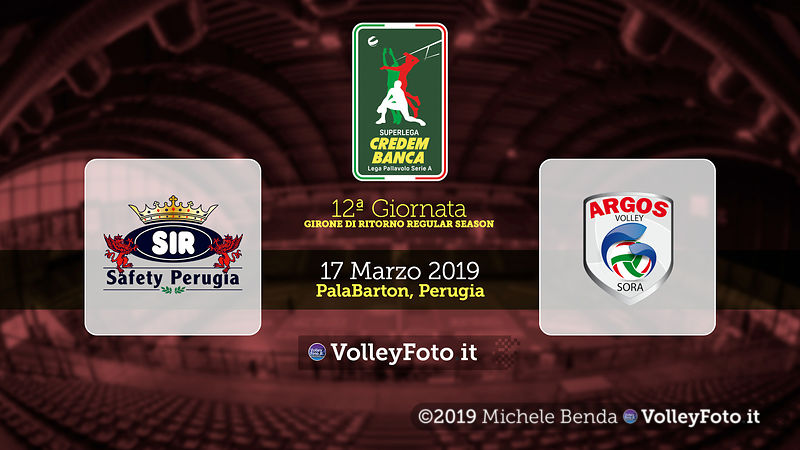 12ª SuperLega: Perugia-Sora
