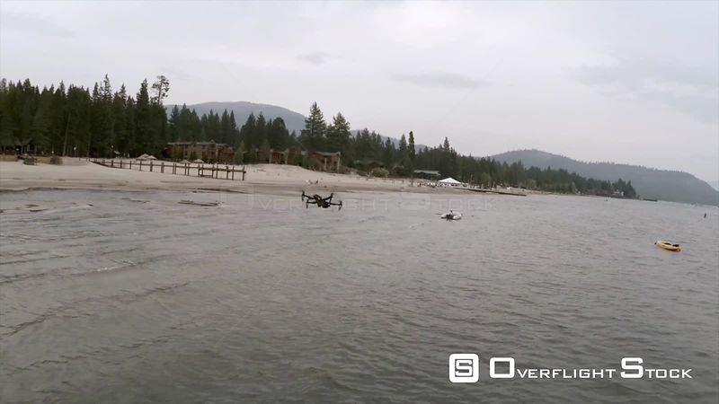 Drone Following a Drone Over Lake Tahoe