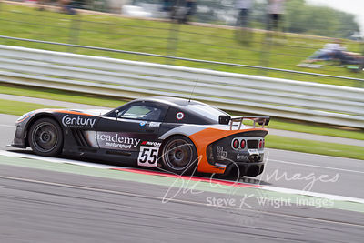 Academy Motorsport's Ginetta G55 GT4 in action at the Silverstone 500 - the third round of the British GT Championship 2014 -...