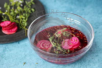Pickled Beetroot with Fennel and Thyme.