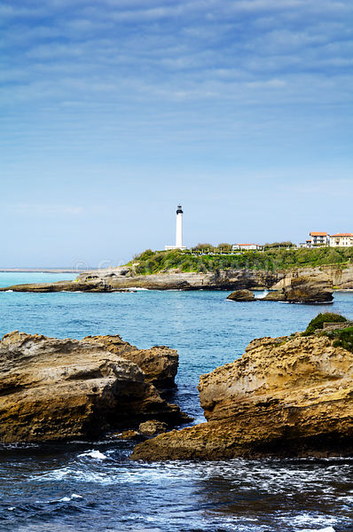 Phare et littoral de Biarritz, France