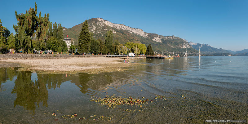 A new beach in Annecy