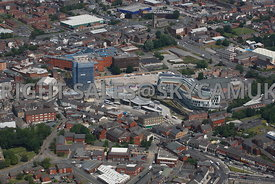 Rochdale aerial photograph of Number One Riverside development area in the centre of Rochdale