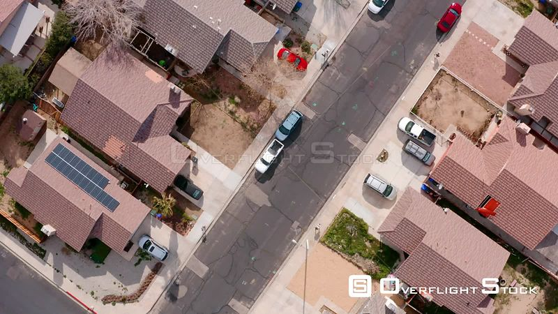 Top Down of Victorville California Neighbourhood