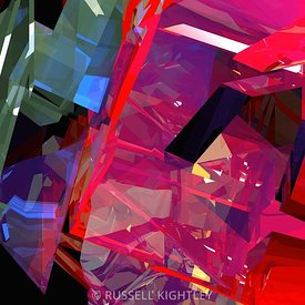 ABSTRACT Hard Edged Tower Poly # 11