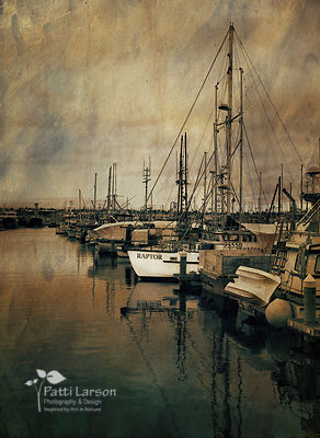 Boats in Seattle Harbor – Painterly