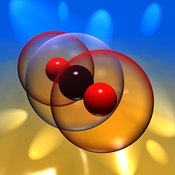Carbon Dioxide Molecule with Photons