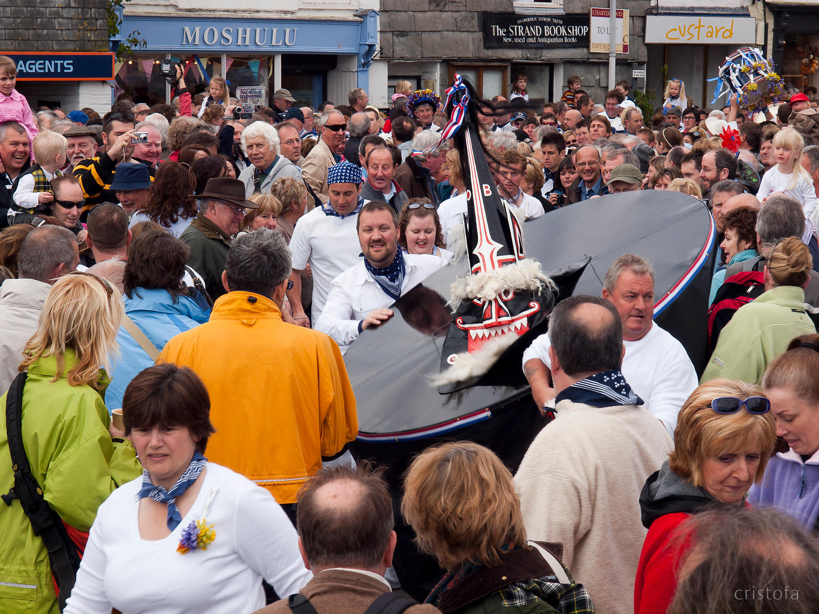 the Padstow Obby Oss