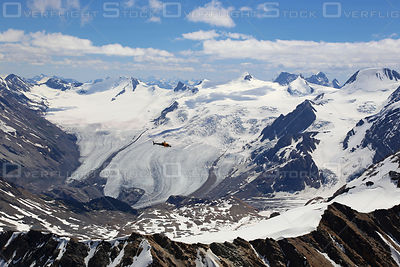 Astar Helipcopter in the Freshfield Glacier Canadian Rockies Alberta