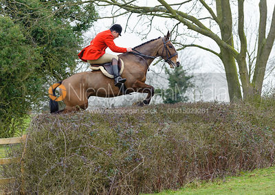 Jonty Evans jumping hedges near Bleak House, Knossington