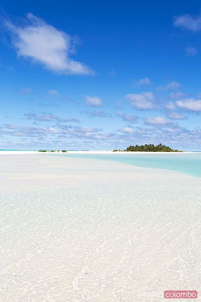 Honeymoon island, Aitutaki lagoon, Cook Islands