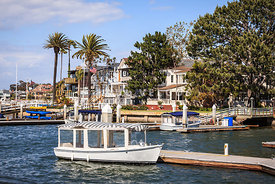 Orange County Waterfront Homes with Duffy Boats