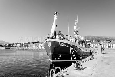 Fiona K II At Dingle Harbor (B&W)- Dingle, Ireland