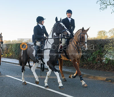 HB and Adam Cooke leaving the meet - The Cottesmore Hunt at Pickwell Manor 28/12