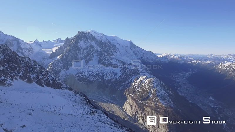 Alpine Vista of Mont Blanc at a distance, France