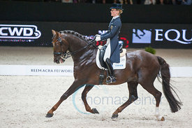 Langehanenberg,Helen  with Damon Hill NRW, (GER),  Lyon, Eurexpo, 20.04.14, REEM ACRA FEI WORLD CUP DRESSAGE FINAL - Grand Prix Freestyle