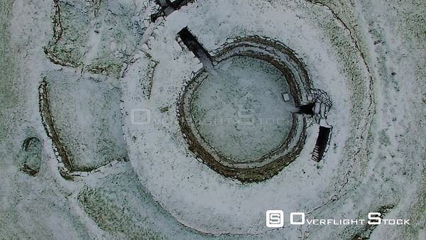 Cairn Laith Broch Sutherland Scotland In Winter Snow